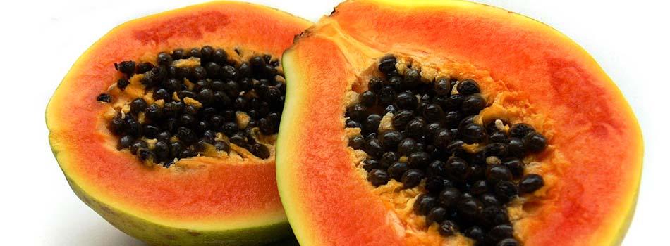 Alimentos para perder peso. Papayas