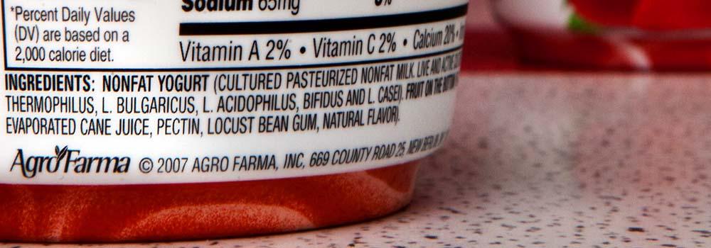 Orden de los ingredientes en la etiqueta de nuestros alimentos. ¿Significa algo?