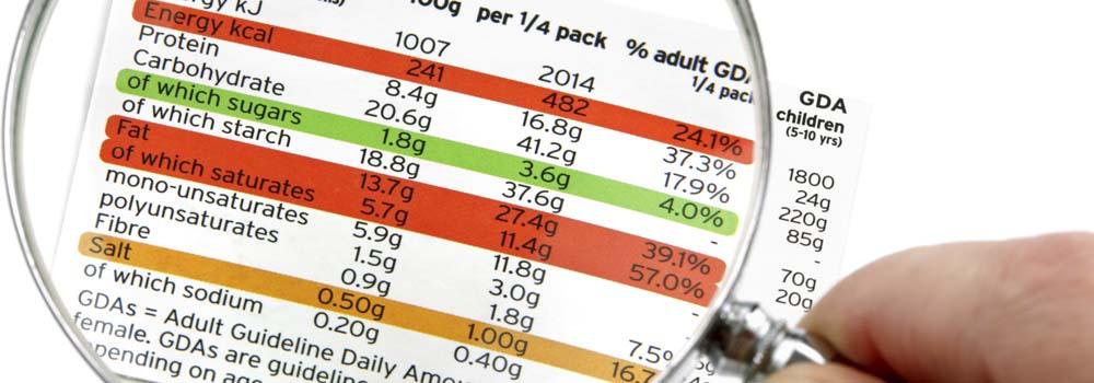 Nueva información nutricional en Estados Unidos