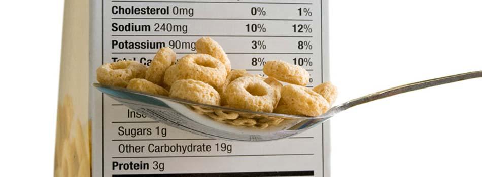 Nueva información nutricional. Etiqueta de información nutricional en cereales