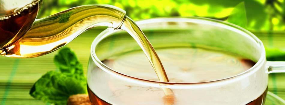 Té verde. Taza de té