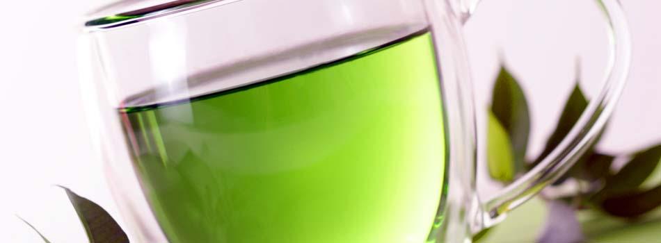 Té verde. Vaso de té