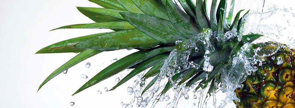 Piña con agua
